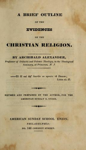 Download A brief outline of the evidences of the Christian religion