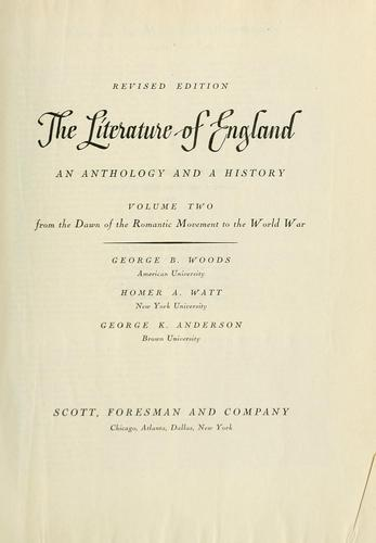 Download The literature of England