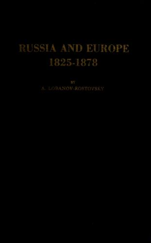 Download Russia and Europe, 1825-1878