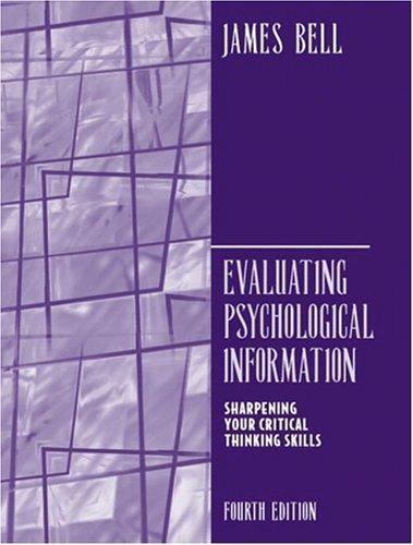 Evaluating Psychological Information (4th Edition)