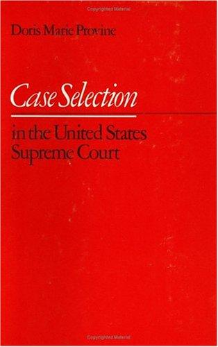 Download Case selection in the United States Supreme Court