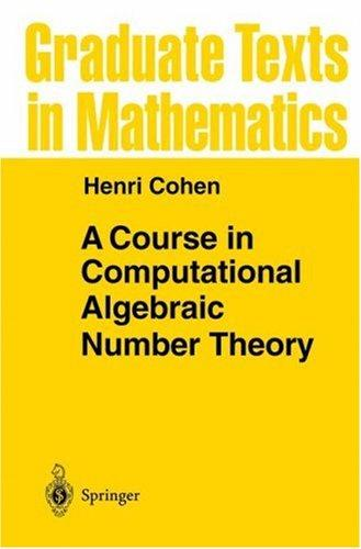 Download A course in computational algebraic number theory