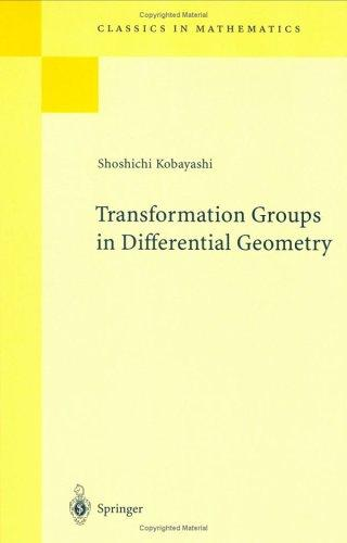 Transformation groups in differential geometry