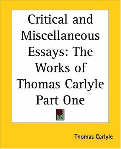 Download Critical And Miscellaneous Essays