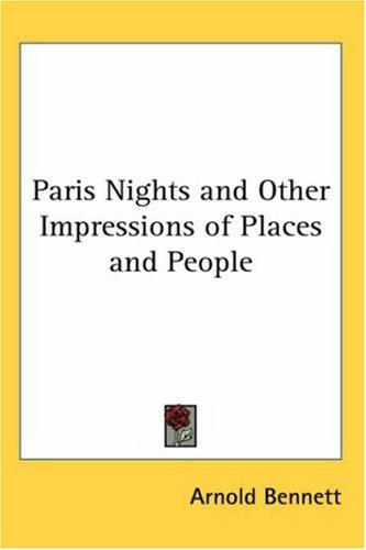 Download Paris Nights and Other Impressions of Places and People