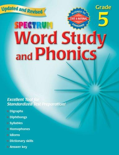Download Spectrum Word Study and Phonics, Grade 5 (Spectrum)