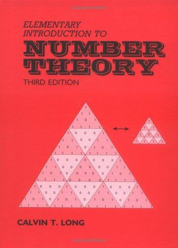 Download Elementary Introduction to Number Theory