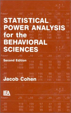 Download Statistical power analysis for the behavioral sciences