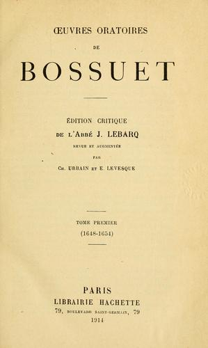 Download uvres oratoires de Bossuet