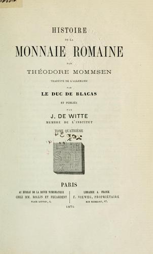 Download Histoire de la monnaie romaine.