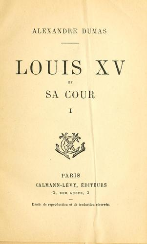 Download Louis XV et sa cour.