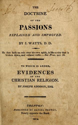 Download The doctrine of the passions explained and improved