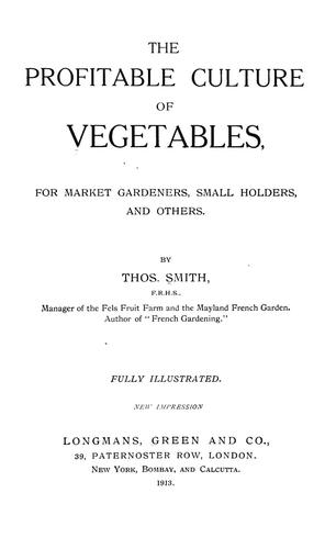 Download The profitable culture of vegetables, for market gardeners, small holders, and others