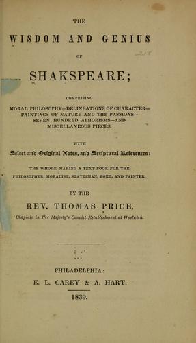 The wisdom and genius of Shakespeare