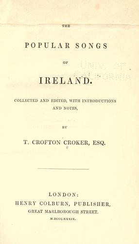 The popular songs of Ireland.