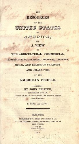 The resources of the United States of America