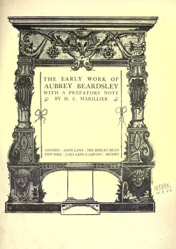 Early work of Aubrey Beardsley, The