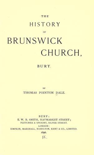 Download The history of Brunswick Church, Bury