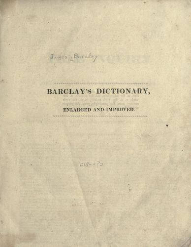 A complete and universal English dictionary.