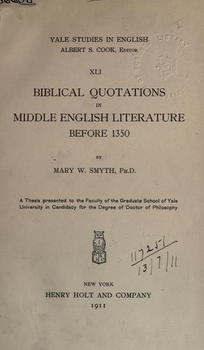 Biblical quotations in Middle English literature before 1350