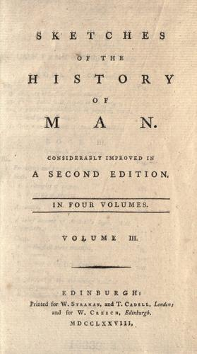 Download Sketches of the history of man.