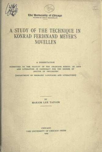 Download A study of the technique in Konrad Ferdinand Meyer's novellen.