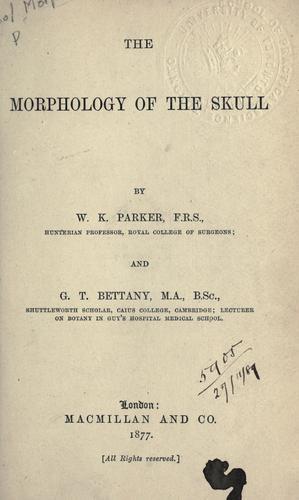 The morphology of the skull.