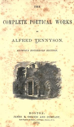 Download The complete poetical works of Alfred Tennyson.