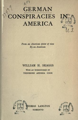 Download German conspiracies in America