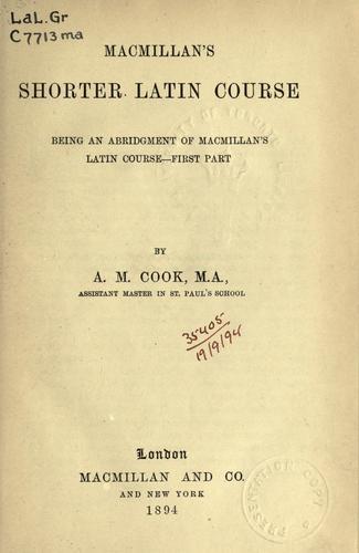 Macmillan's shorter Latin course