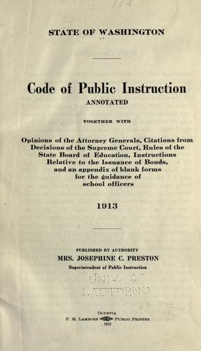 Download Code of public instruction, annotated