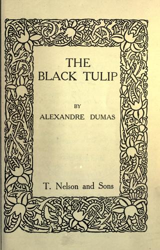 The black tulip.