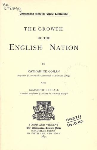 The growth of the English nation