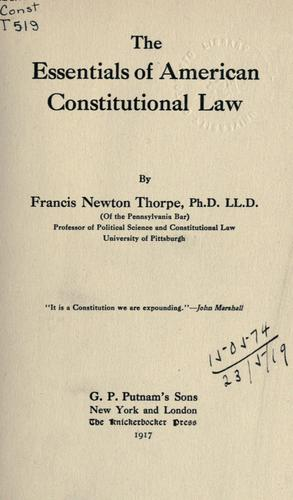 The essentials of American Constitutional law.