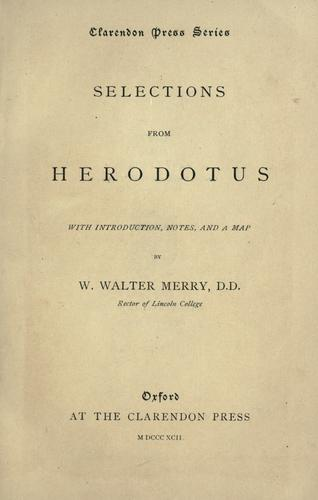 Selections from Herodotus.