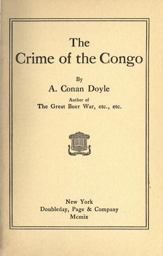 Download The crime of the Congo