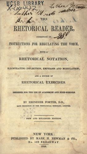 The rhetorical reader