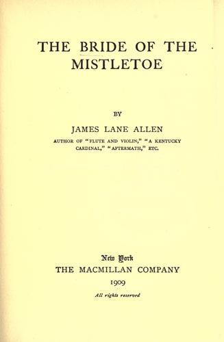 The bride of the mistletoe.