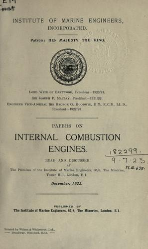 Download Papers on internal combustion engines.