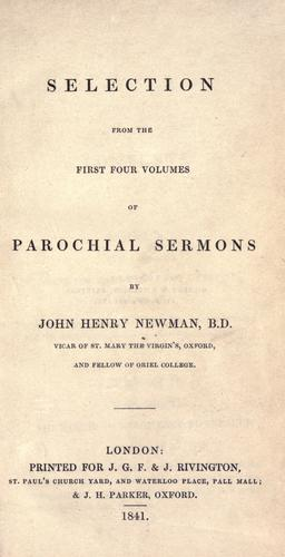 Download Selection from the first four volumes of Parochial sermons