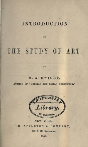 Introduction to the study of art.