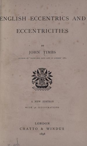 English eccentrics and eccentricities.