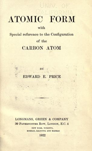 Atomic form with special reference to the configuration of the carbon atom