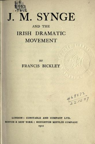 Download J.M. Synge and the Irish dramatic movement.