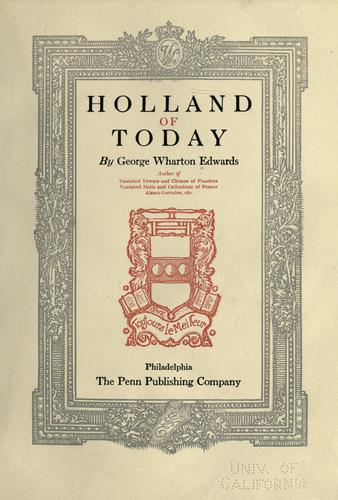 Holland of today.