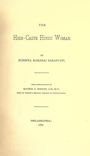 Download The high-caste Hindu woman
