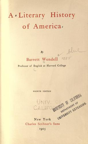 A literary history of America.