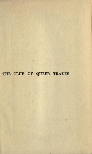 Download The club of queer trades.