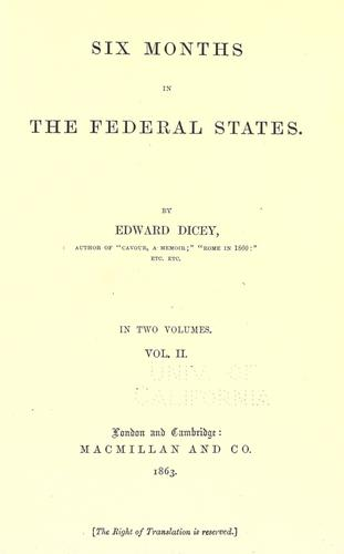 Download Six months in the federal states.