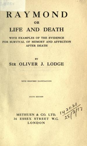 Raymond, or, Life and death